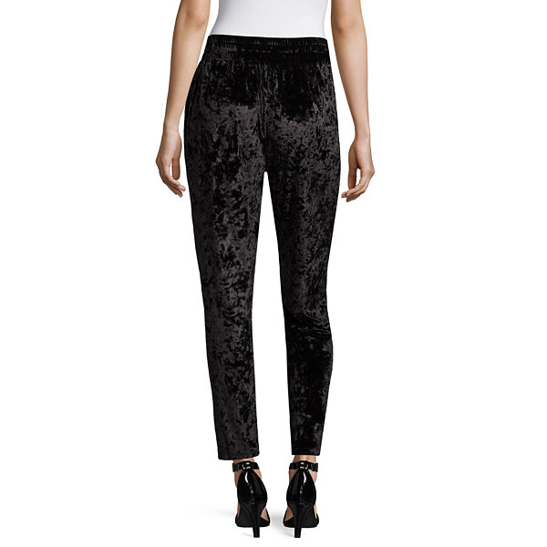 Project Runway Crushed Velvet Jogger Pants