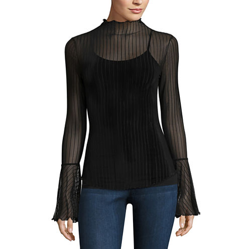 Project Runway Long Sleeve Mesh Top