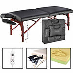 "Master® Massage 31"" Montclair ThermaTop Portable Table Beauty Salon Bed Memory Foam Black"