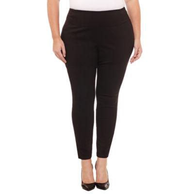 Worthington Skinny Fit Pull on Pants-Plus