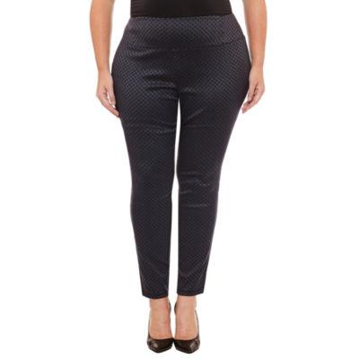 Worthington Skinny Fit Pull on Slim Pants-Plus