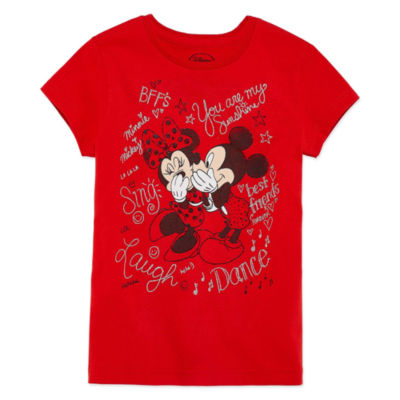 Disney Minnie Mouse Graphic T-Shirt-Big Kid