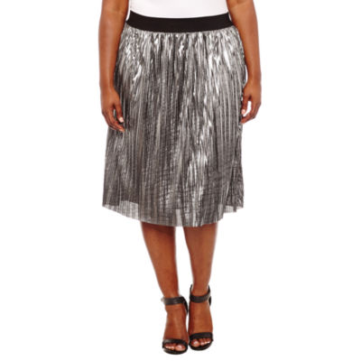 Project Runway Knit Pleated Skirt Plus