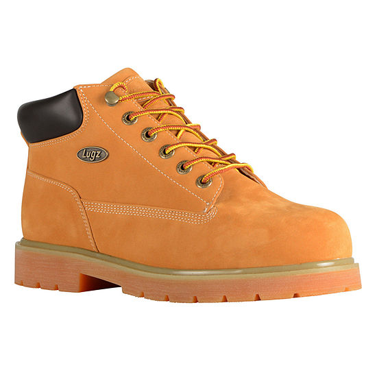 Lugz Drifter Mid Steel Toe Wide Mens Water Resistant Slip Resistant Steel Toe Work Boots Wide