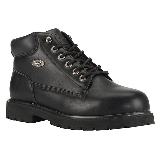 Lugz Mens Drifter Mid Steel Toe Water Resistant Slip Resistant Work Boots