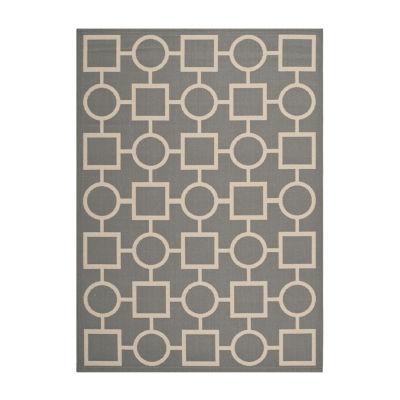 Safavieh Courtyard Collection Drew Geometric Indoor/Outdoor Area Rug