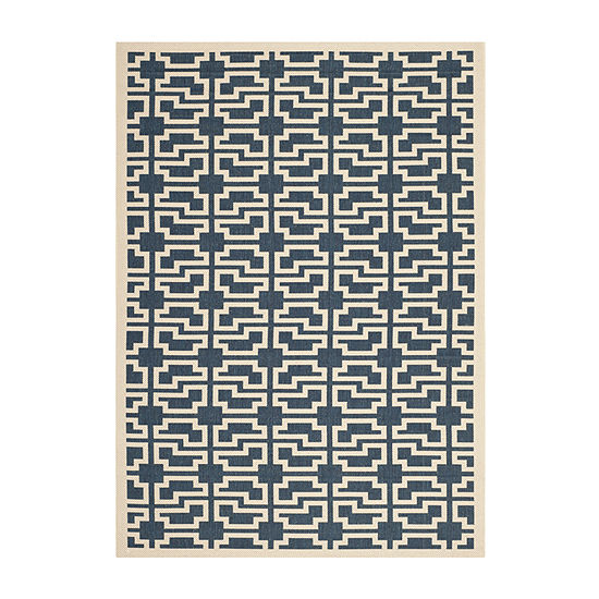 Safavieh Courtyard Collection Eddie Geometric Indoor/Outdoor Area Rug