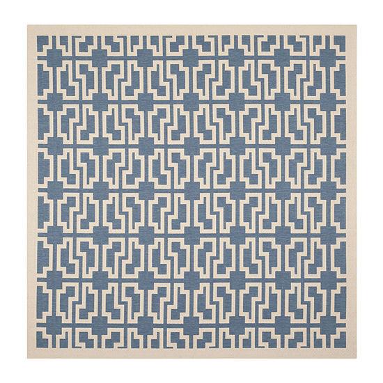 Safavieh Courtyard Collection Eddie Geometric Indoor/Outdoor Square Area Rug