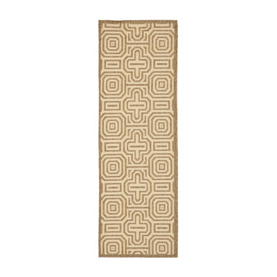 Safavieh Courtyard Collection Klara Geometric Indoor/Outdoor Runner Rug