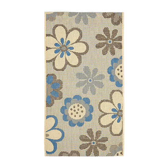 Safavieh Courtyard Collection Lance Floral Indoor/Outdoor Accent Rug