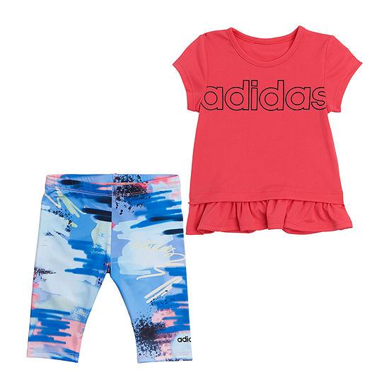 adidas Baby Girls 2-pc. Legging Set
