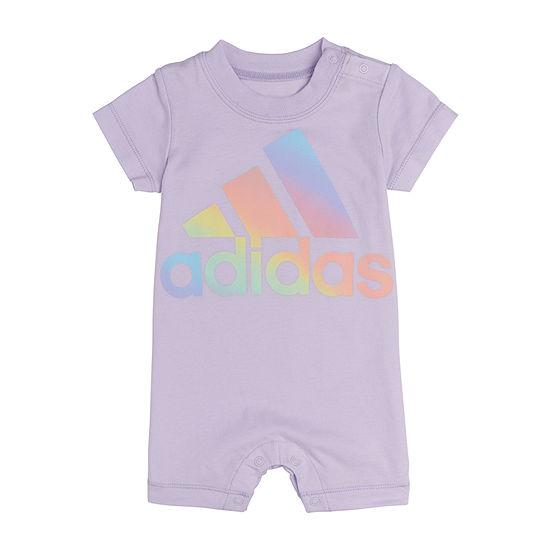 adidas Baby Girls Short Sleeve Romper