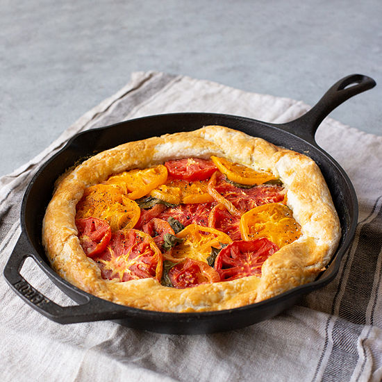 """Lodge Cookware Cast Iron 12"""" Chef Style Skillet"""
