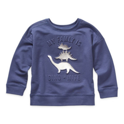 Okie Dokie Toddler Boys Crew Neck Long Sleeve Sweatshirt