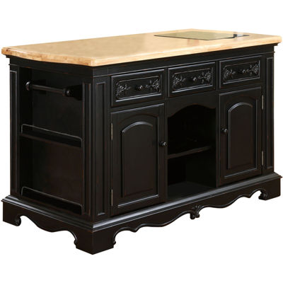 Pennington Kitchen Island with Granite Cutting Surface