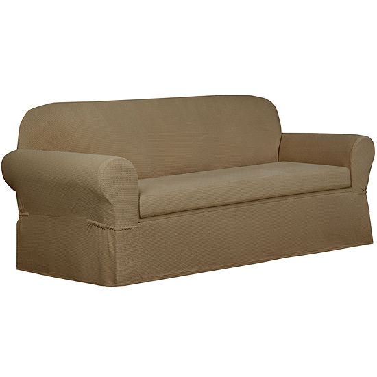 Maytex Smart Cover Torie Medallion Stretch 2 Piece Sofa Furniture Cover Slipcover