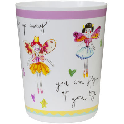 Creative Bath™ Faerie Princesses Wastebasket