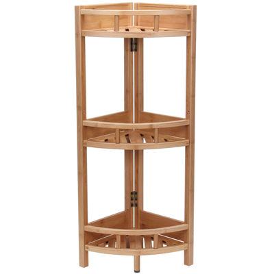 Household Essentials® Bamboo 3-Shelf Corner Shelf
