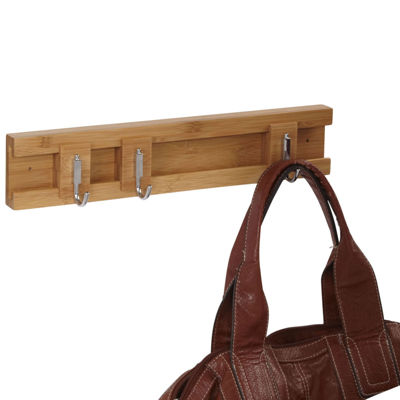 Household Essentials® Sliding 3-Hook Wall Coat Rack