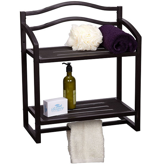 Household Essentials® 2-Tier Wall-Mounted Shelf