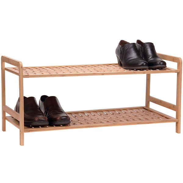 Household Essentials® 2-Tier Bamboo Shoe Rack