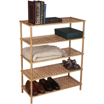 Household Essentials® 5-Tier Bamboo Shoe Rack