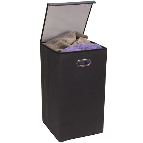 Household Essentials® Collapsible Hamper with Lid