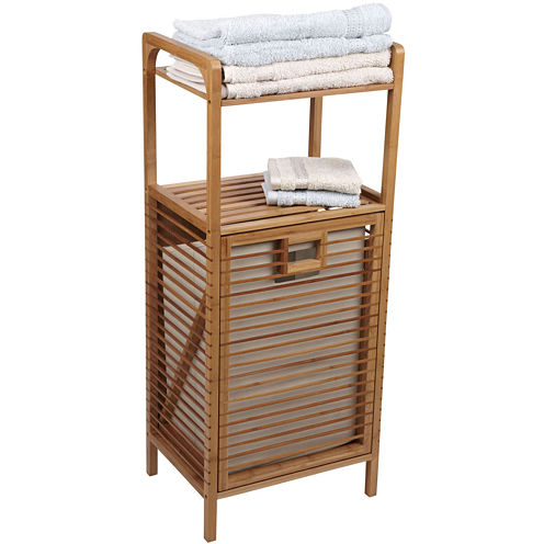 Household Essentials® Bamboo Slatted Tilt-Out Laundry Hamper