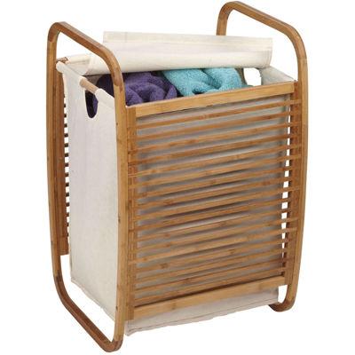 Household Essentials® Bamboo Slatted Hamper
