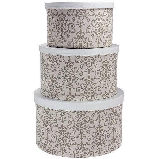Household Essentials 3 Pc Nesting Hat Box Set
