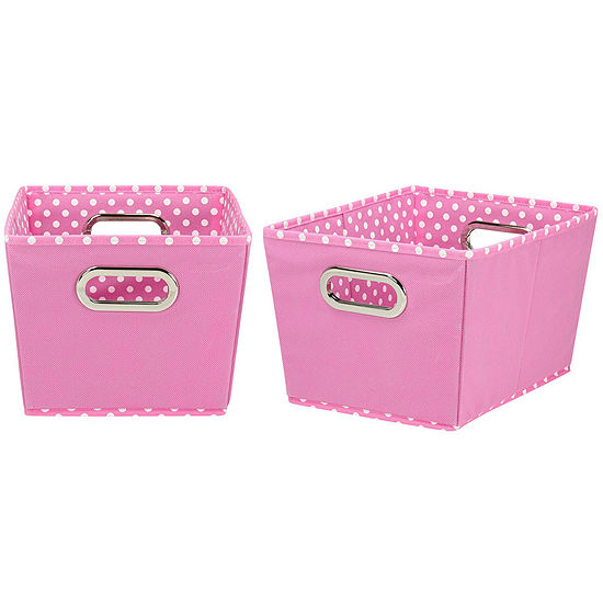 Household Essentials® Set of 2 Small Tapered Storage Bins