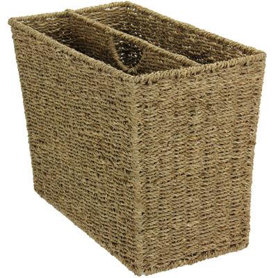 Household Essentials® Seagrass Wicker Magazine Rack