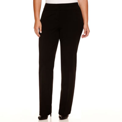 Worthington® Wide-Waistband Slim-Leg Pants - Plus