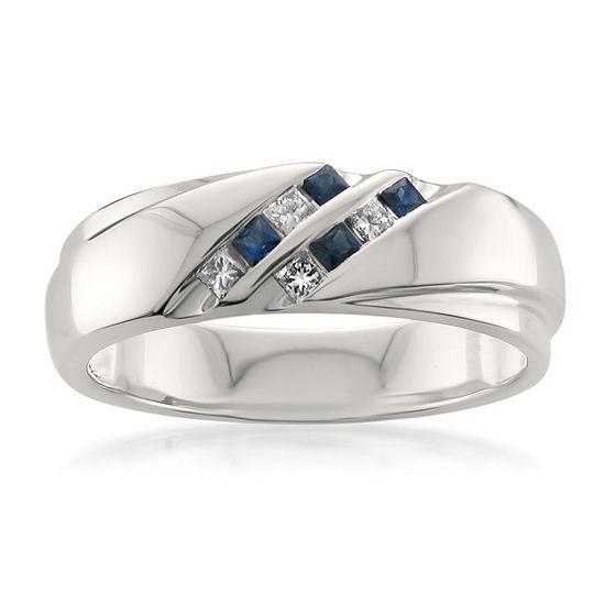 Mens 6.5 Mm 1/4 CT. T.W. Genuine White Diamond 14K Gold Wedding Band
