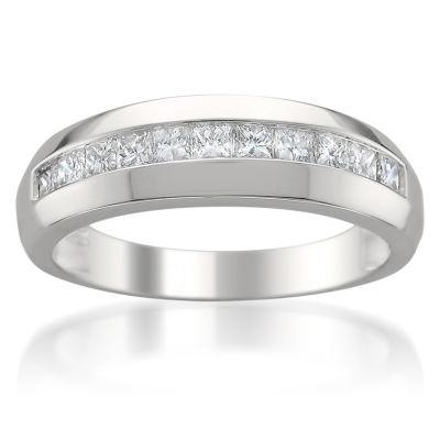 Mens 6.5 Mm 1 CT. T.W. White Diamond 14K Gold Wedding Band