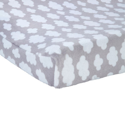 Carters Changing Pad Cover- Grey Cloud