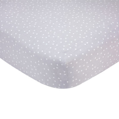 Carters Sateen Crib Sheet- Grey Stars