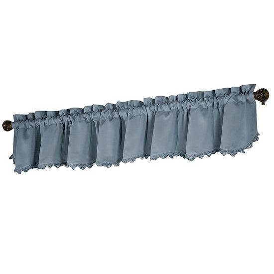 United Curtain Co. Blackstone Rod-Pocket Loop Fringe Blackout Valance
