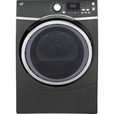 GE® 7.5 cu. ft. Capacity Front-Load Electric Dryer with Steam