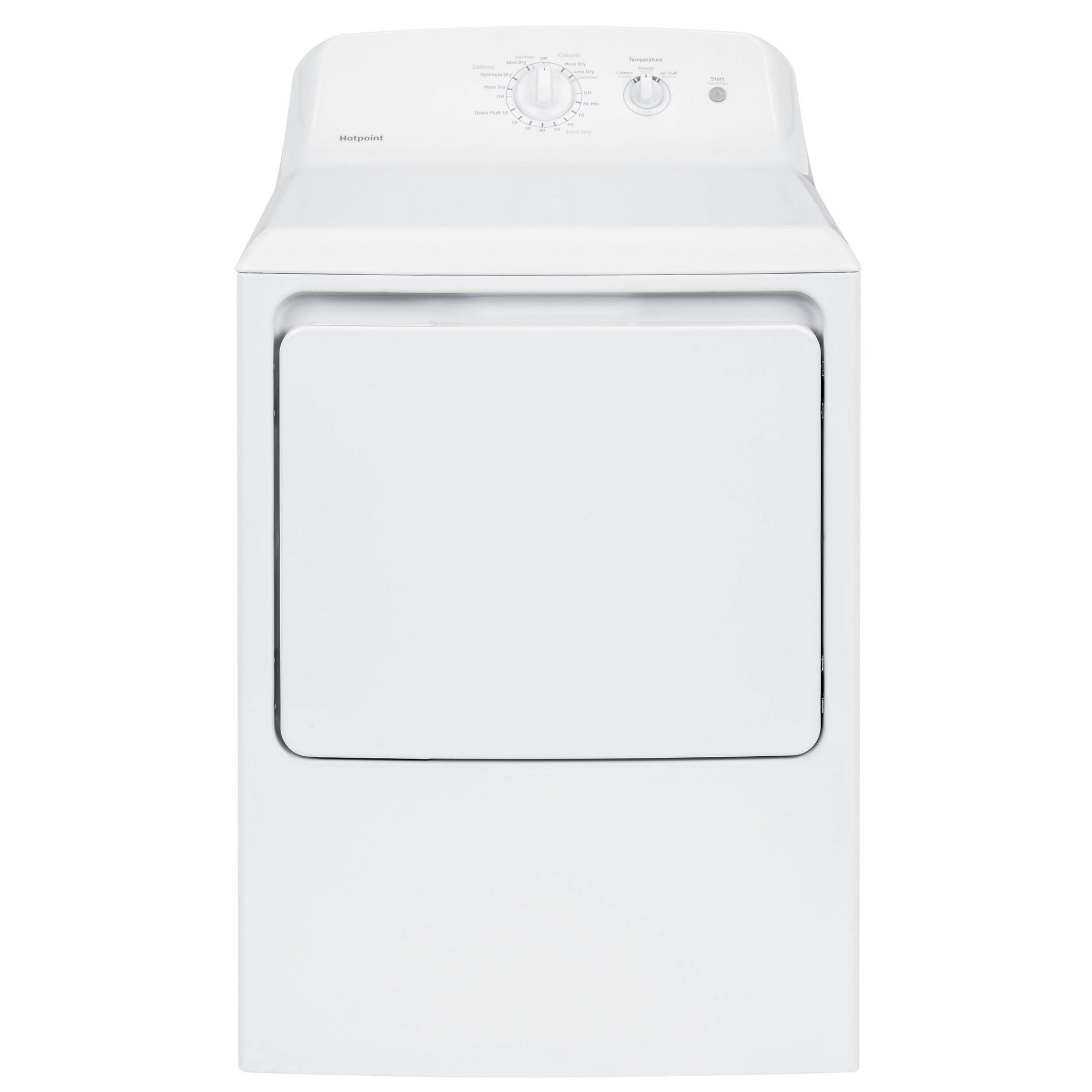 Hotpoint 6.2 cu. ft. Capacity Aluminized Alloy Gas Dryer - HTX21GASKWW