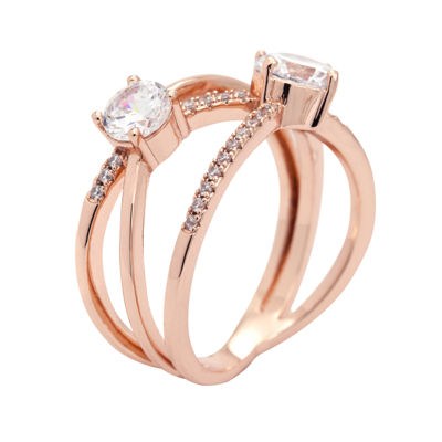 Sparkle Allure Womens 2 1/2 CT. T.W. Clear Cocktail Ring
