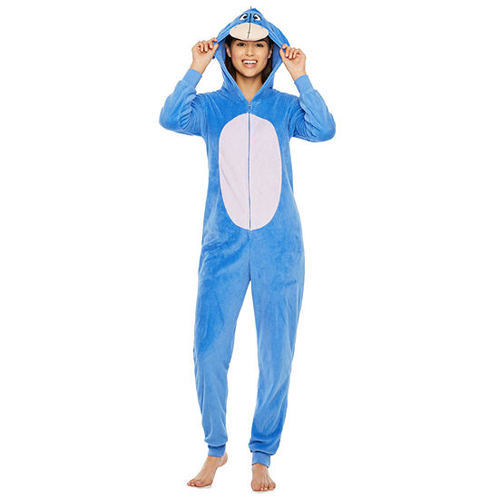 Disney Womens Juniors Fleece One Piece Pajama Long Sleeve