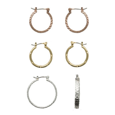 Sensitive Ears 3 Pair Brass Earring Sets