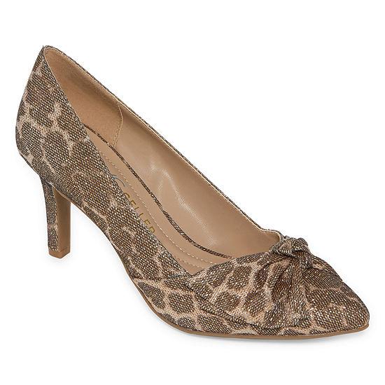 Andrew Geller Womens Tudor Pumps Slip On Pointed Toe Stiletto Heel