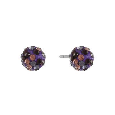 Liz Claiborne Purple Stud Earrings