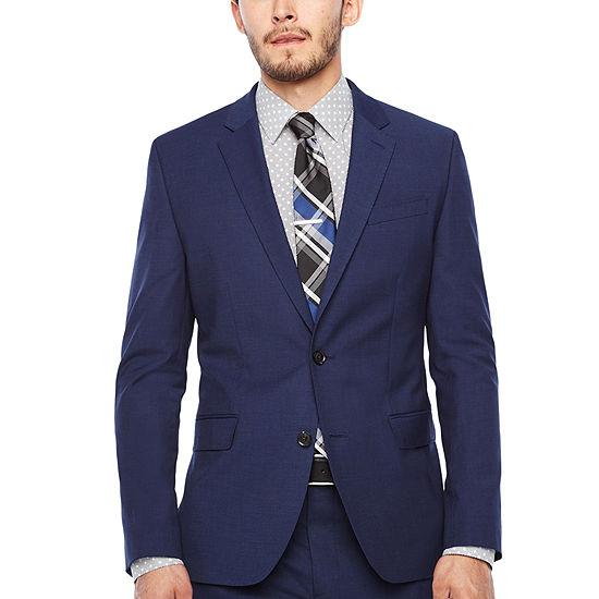JF Dark Blue Texture Jacket-Super Slim