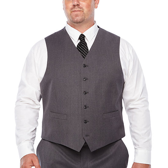 Stafford Travel Stretch Mens Classic Fit Suit Vest - Big and Tall
