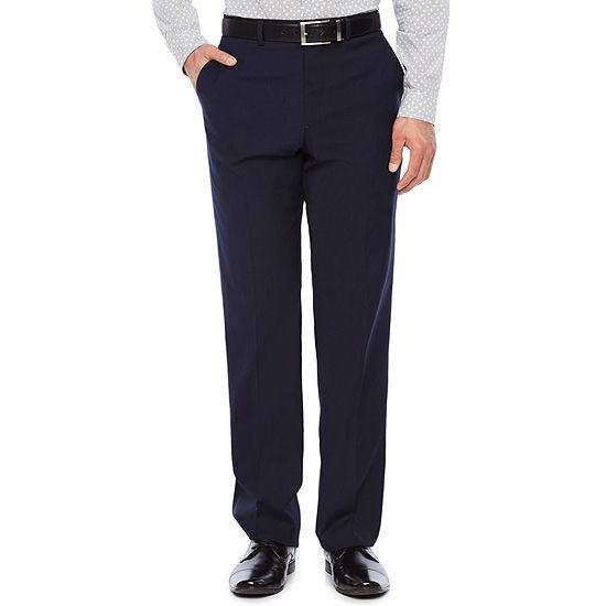 JF J.Ferrar Mens Striped Stretch Slim Fit Suit Pants - Slim