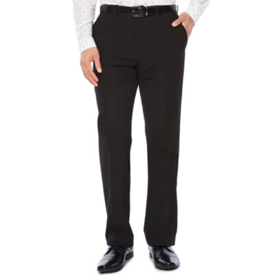 JF J. Ferrar® Stretch Gabardine Flat-Front Straight-Leg Slim Fit Suit Pants