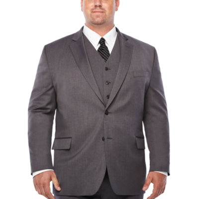 Stafford Travel Stretch Mens Stretch Classic Fit Suit Jacket-Big and Tall